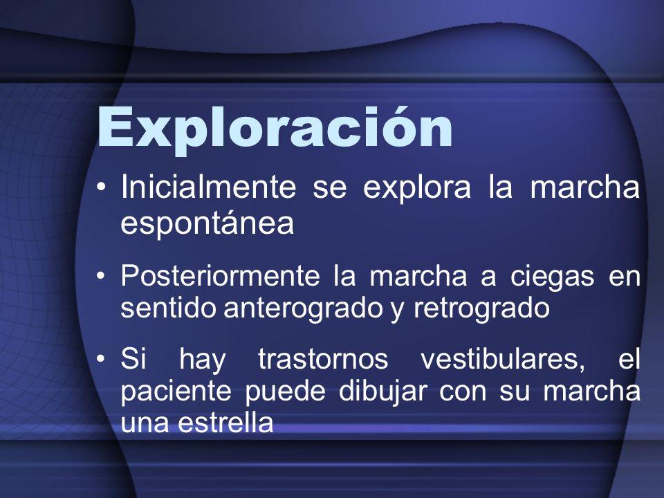 Exploración Inicialmente se explora la marcha espontánea