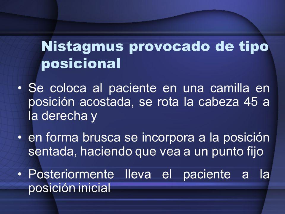 Nistagmus provocado de tipo posicional