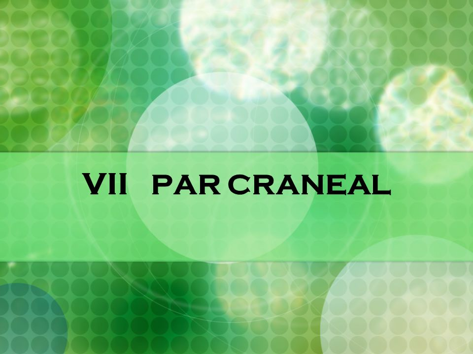 VII PAR CRANEAL. - ppt video online descargar