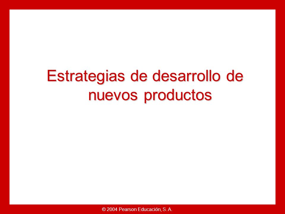 Estrategias de desarrollo de nuevos productos