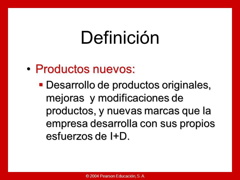 Definición Productos nuevos: