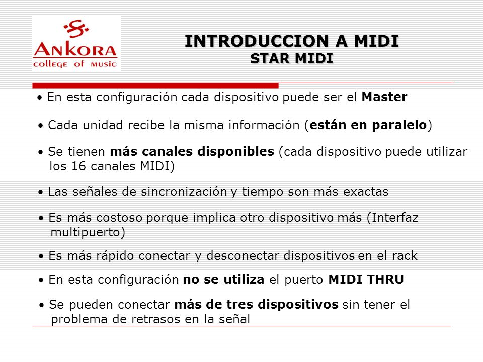 INTRODUCCION A MIDI STAR MIDI