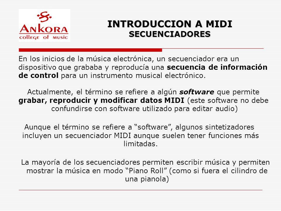INTRODUCCION A MIDI SECUENCIADORES
