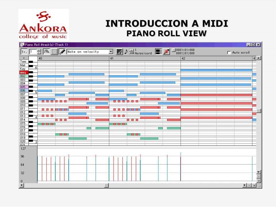 INTRODUCCION A MIDI PIANO ROLL VIEW
