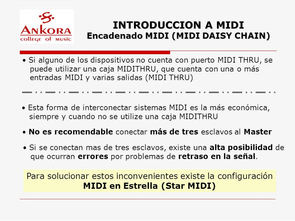Encadenado MIDI (MIDI DAISY CHAIN) MIDI en Estrella (Star MIDI)