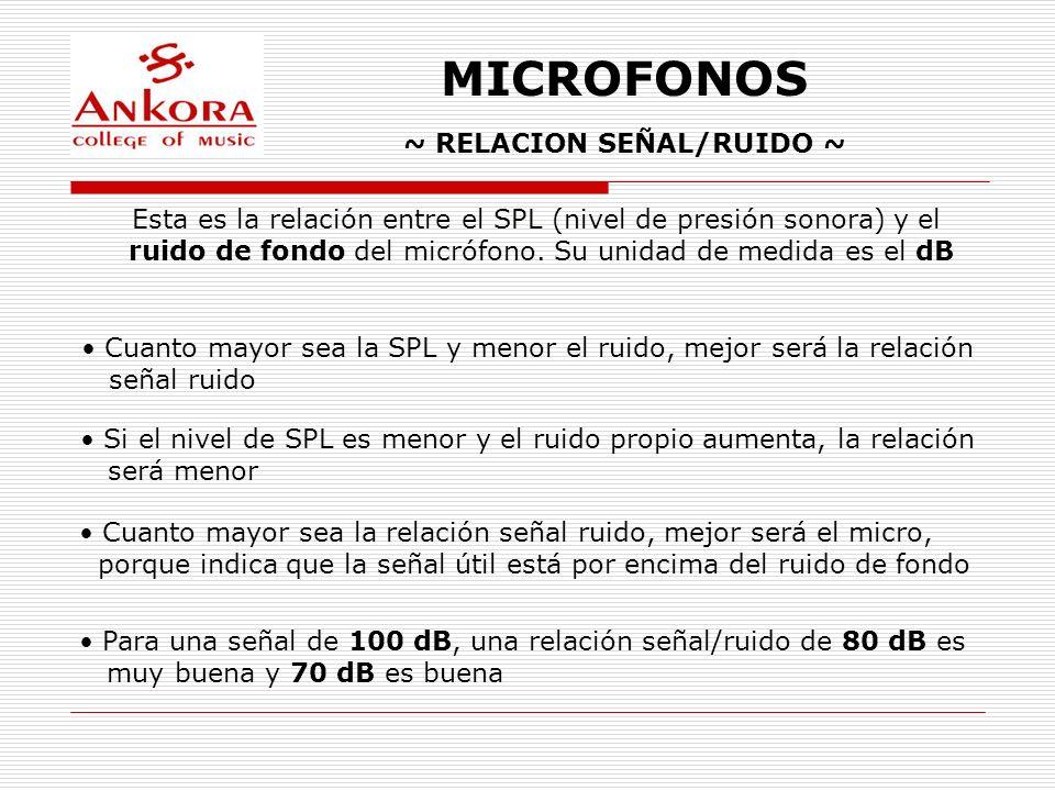 ~ RELACION SEÑAL/RUIDO ~