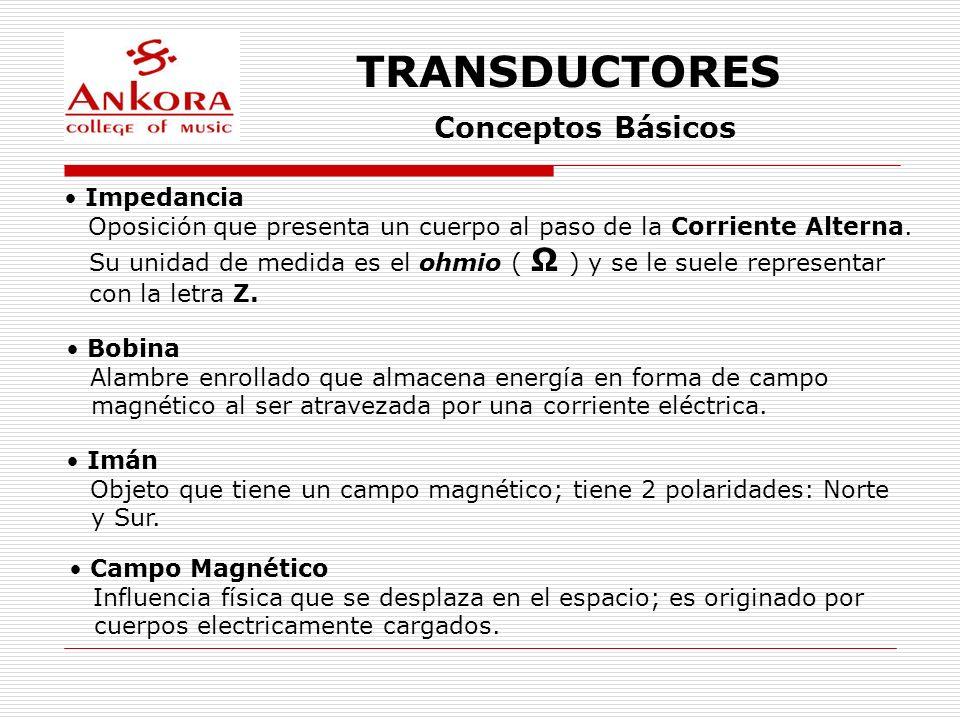 TRANSDUCTORES Conceptos Básicos Impedancia
