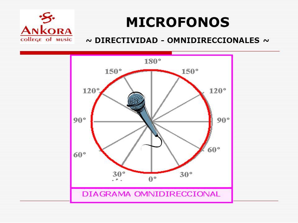 ~ DIRECTIVIDAD - OMNIDIRECCIONALES ~