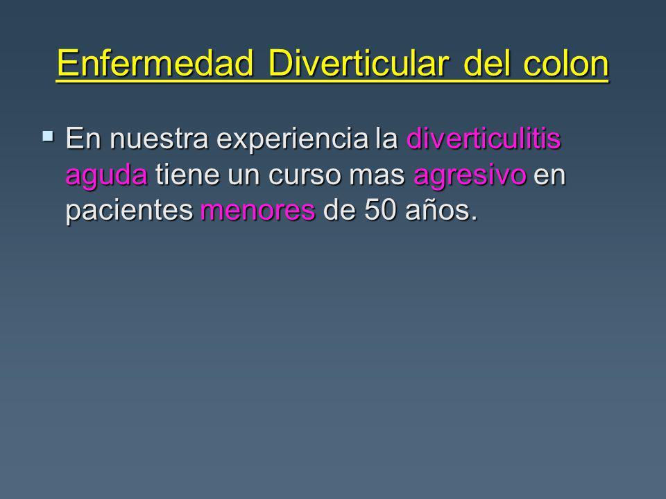 Enfermedad Diverticular del colon
