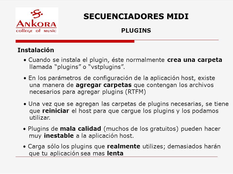 SECUENCIADORES MIDI PLUGINS Instalación