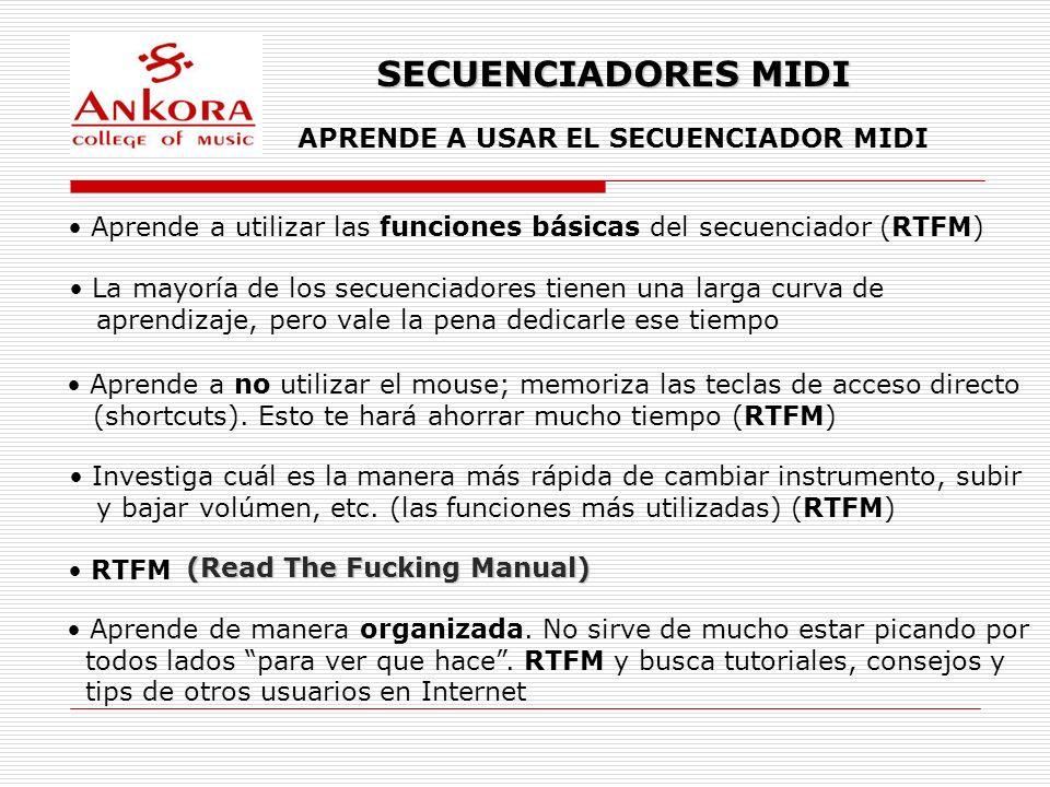 APRENDE A USAR EL SECUENCIADOR MIDI