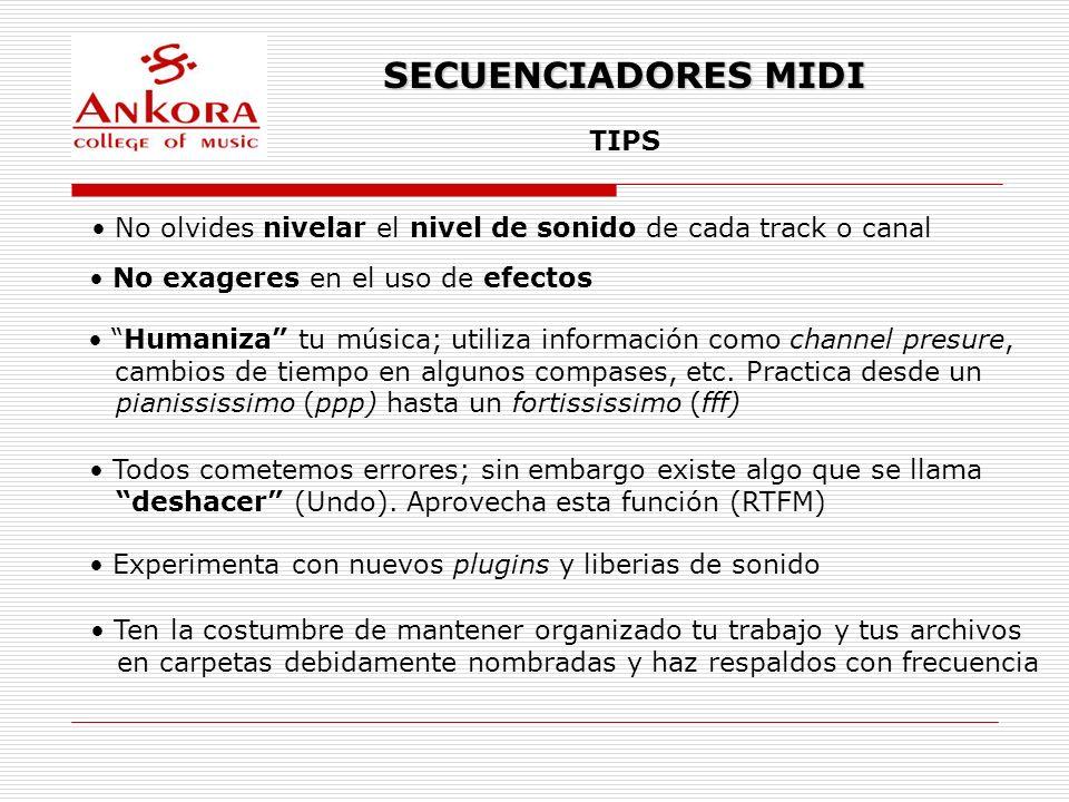 SECUENCIADORES MIDI TIPS