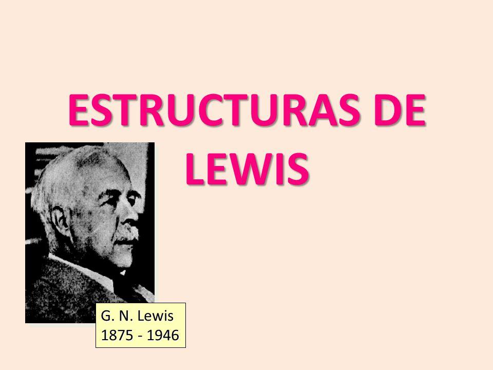 ESTRUCTURAS DE LEWIS G. N. Lewis 1875 - 1946
