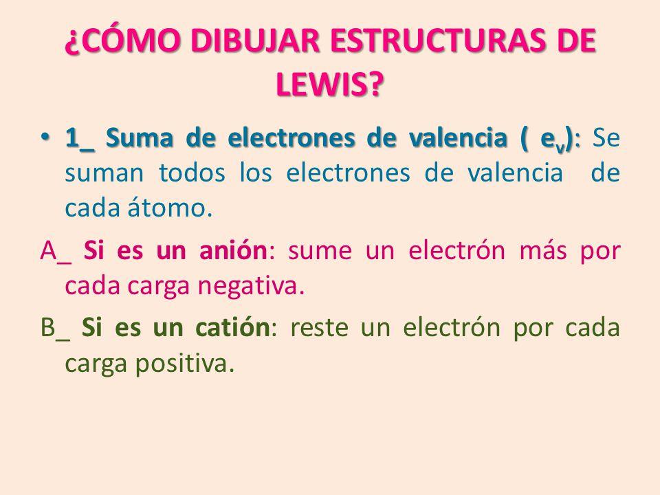 ¿CÓMO DIBUJAR ESTRUCTURAS DE LEWIS