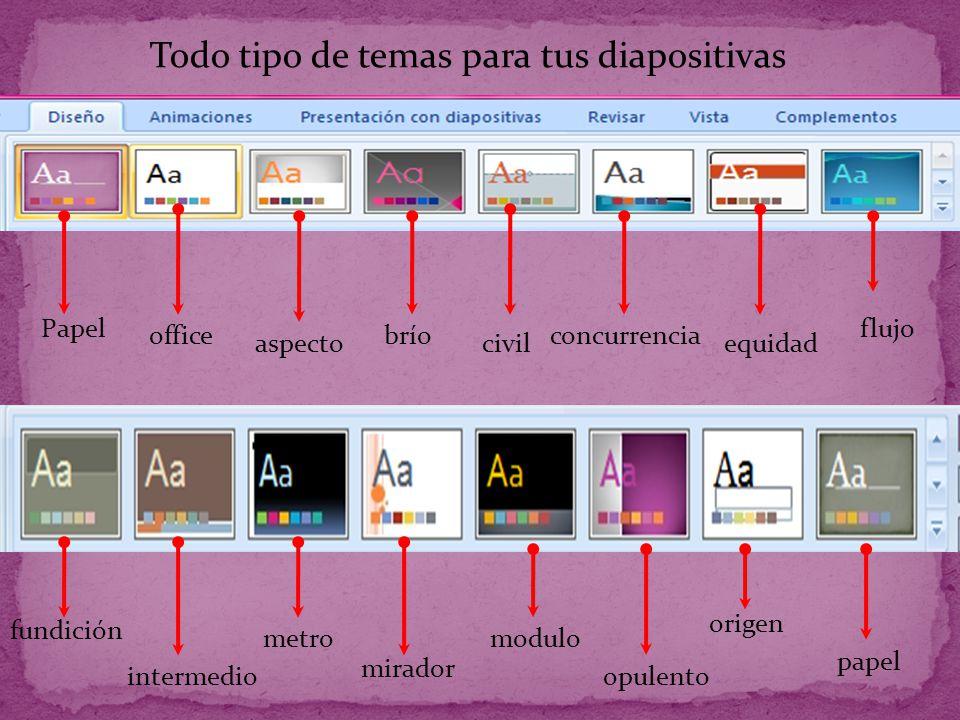 Todo tipo de temas para tus diapositivas