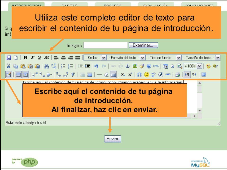 Utiliza este completo editor de texto para