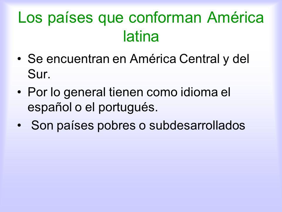 Los países que conforman América latina