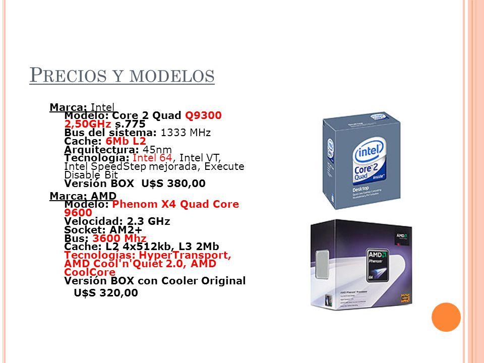 Precios y modelos