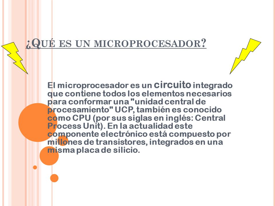 ¿Qué es un microprocesador