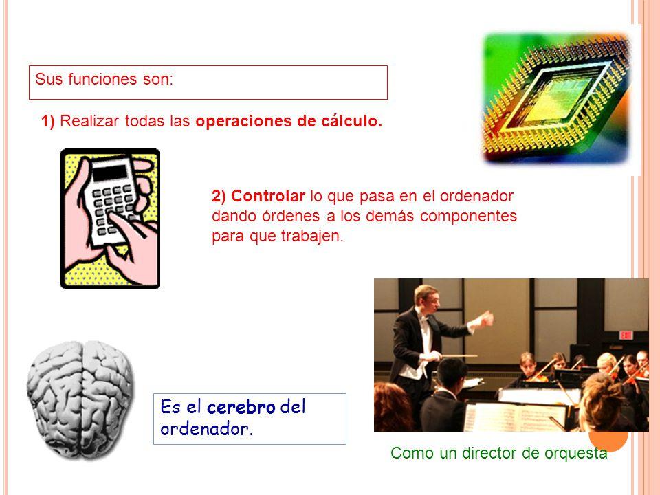 Es el cerebro del ordenador.