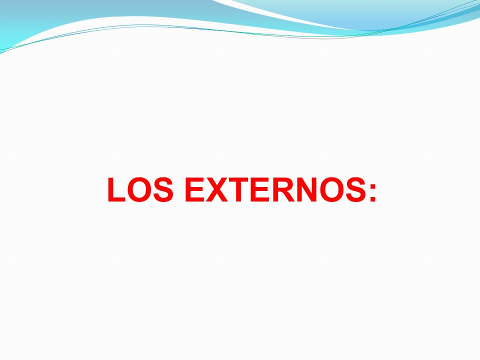 LOS EXTERNOS: