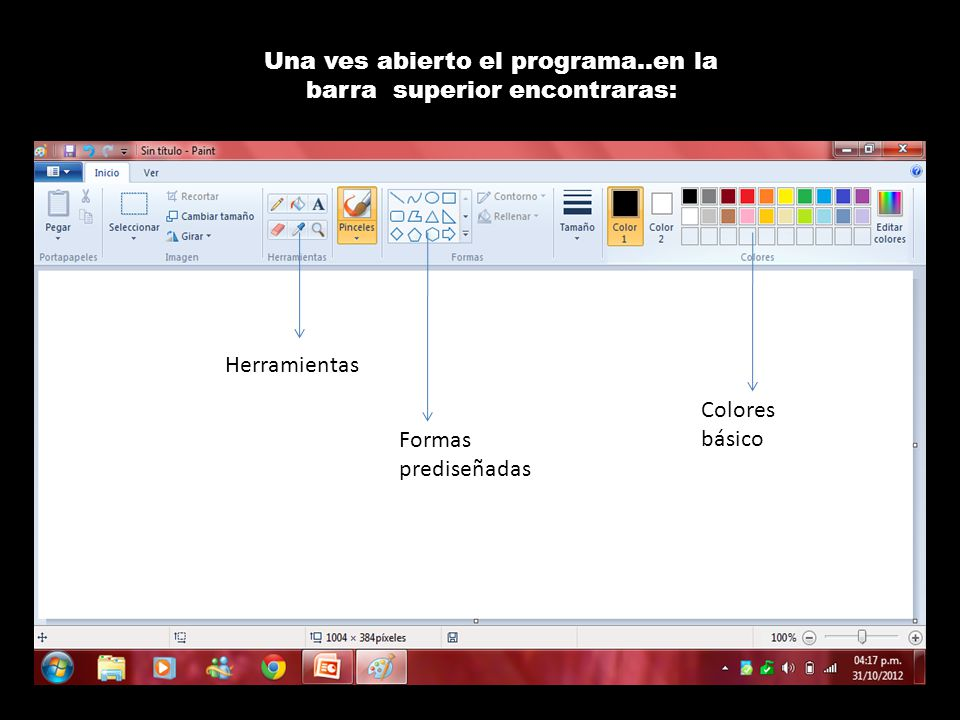 Una ves abierto el programa..en la barra superior encontraras: