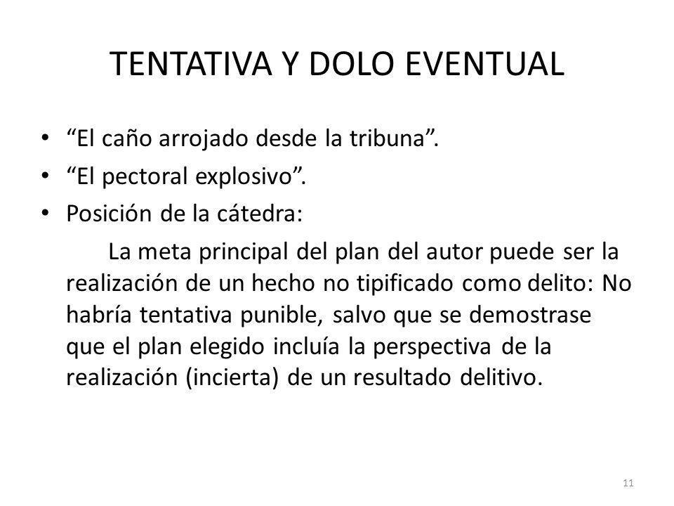 TENTATIVA Y DOLO EVENTUAL