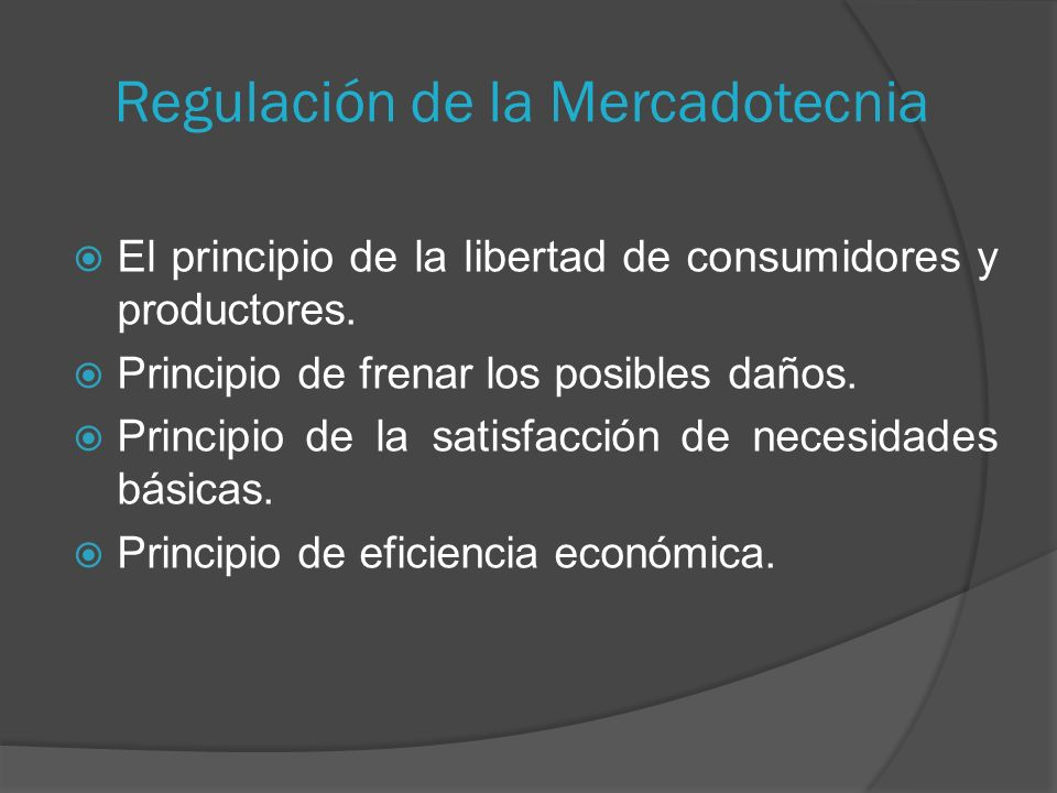 Regulación de la Mercadotecnia