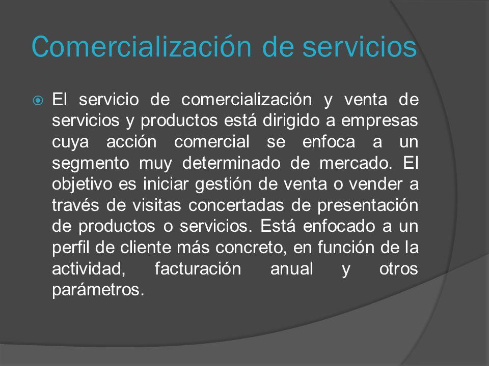 Comercialización de servicios