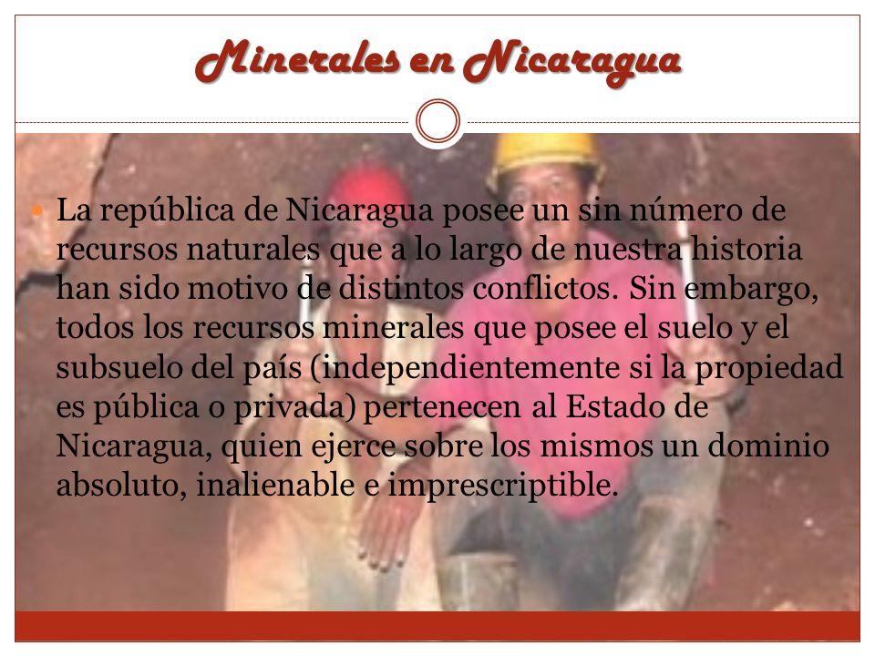 Minerales en Nicaragua