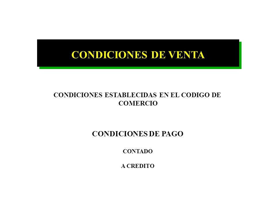 CONDICIONES ESTABLECIDAS EN EL CODIGO DE