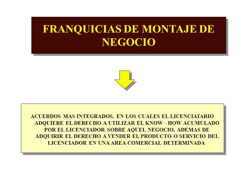 FRANQUICIAS DE MONTAJE DE NEGOCIO