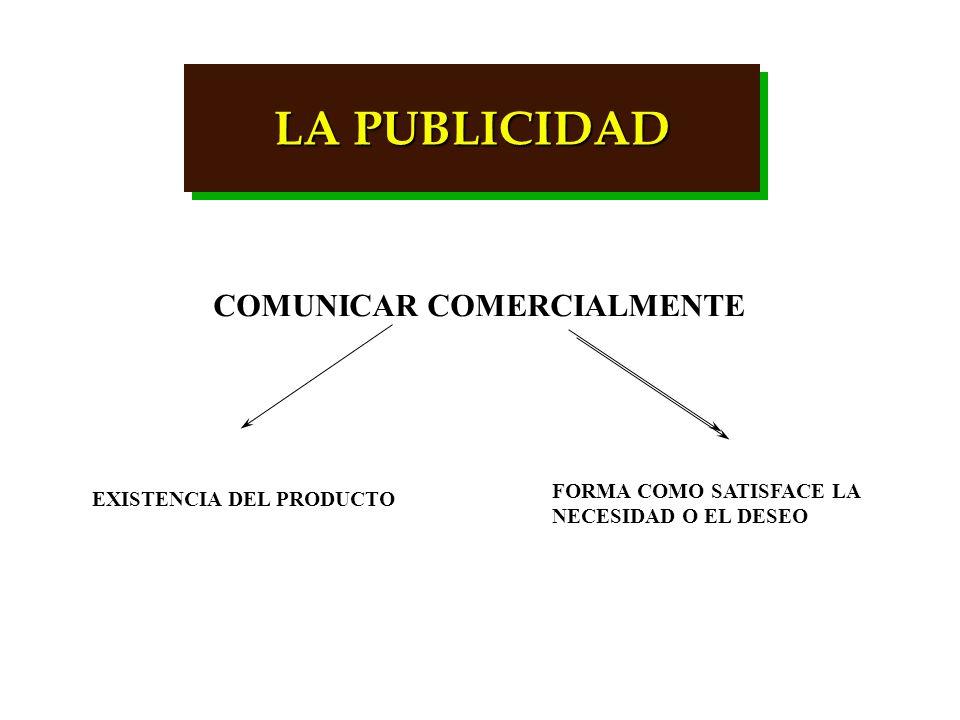 LA PUBLICIDAD COMUNICAR COMERCIALMENTE FORMA COMO SATISFACE LA