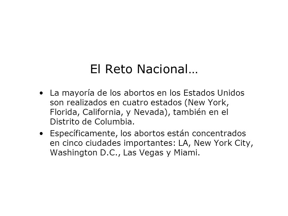 El Reto Nacional…