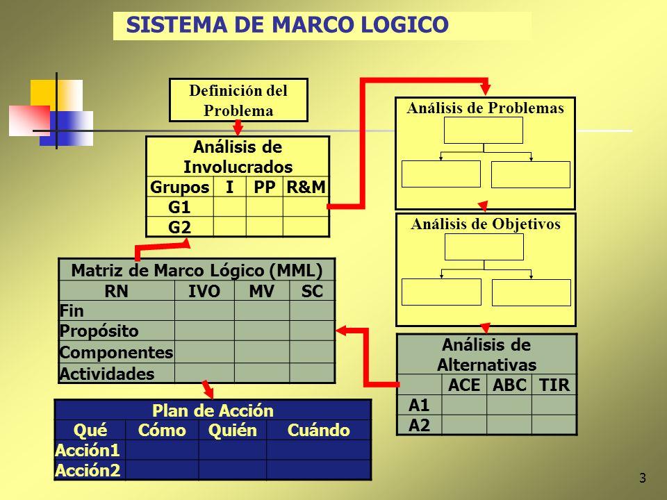 SISTEMA DE MARCO LOGICO