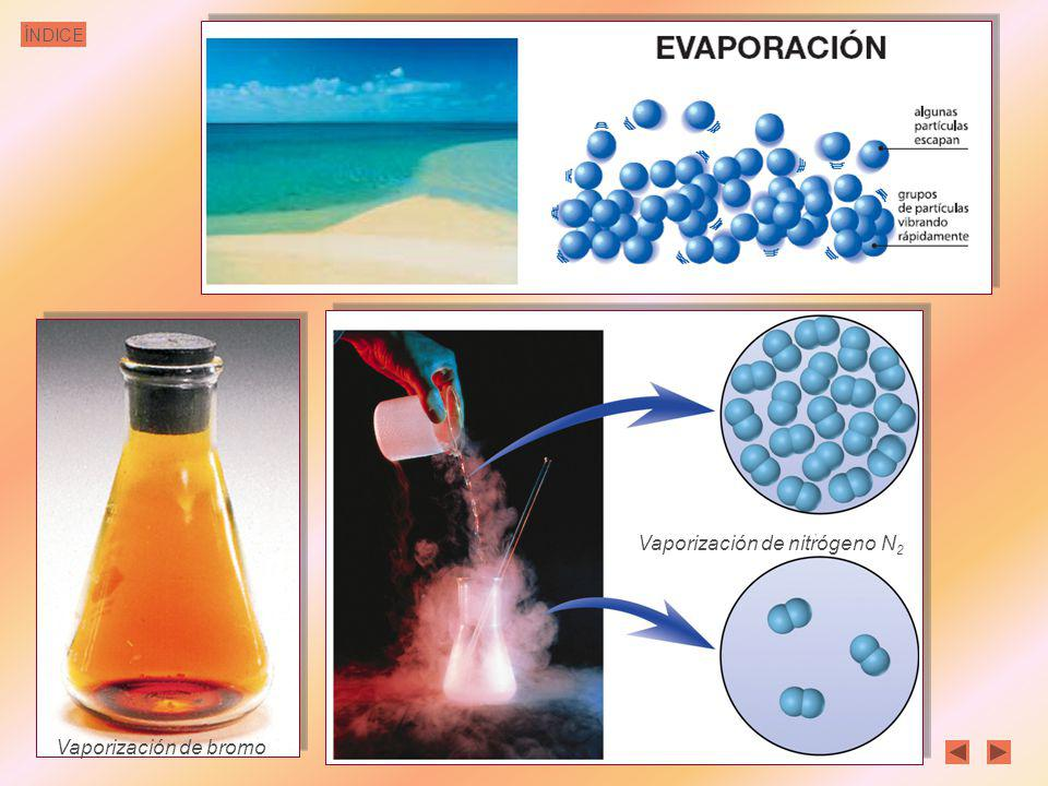 Vaporización de nitrógeno N2