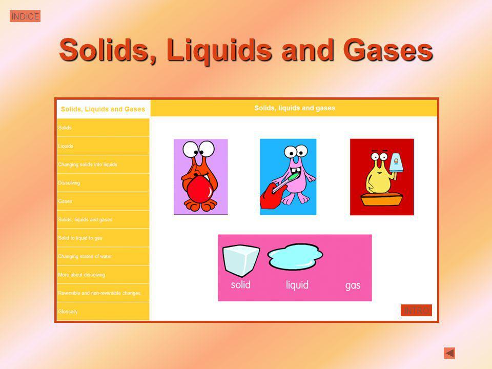 Solids, Liquids and Gases