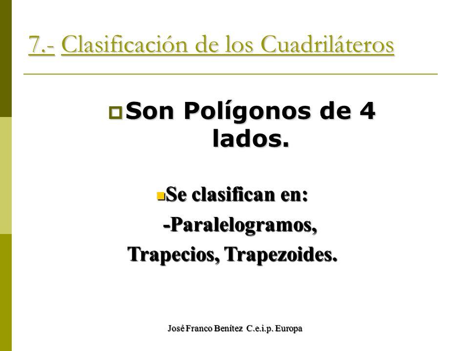 7.- Clasificación de los Cuadriláteros