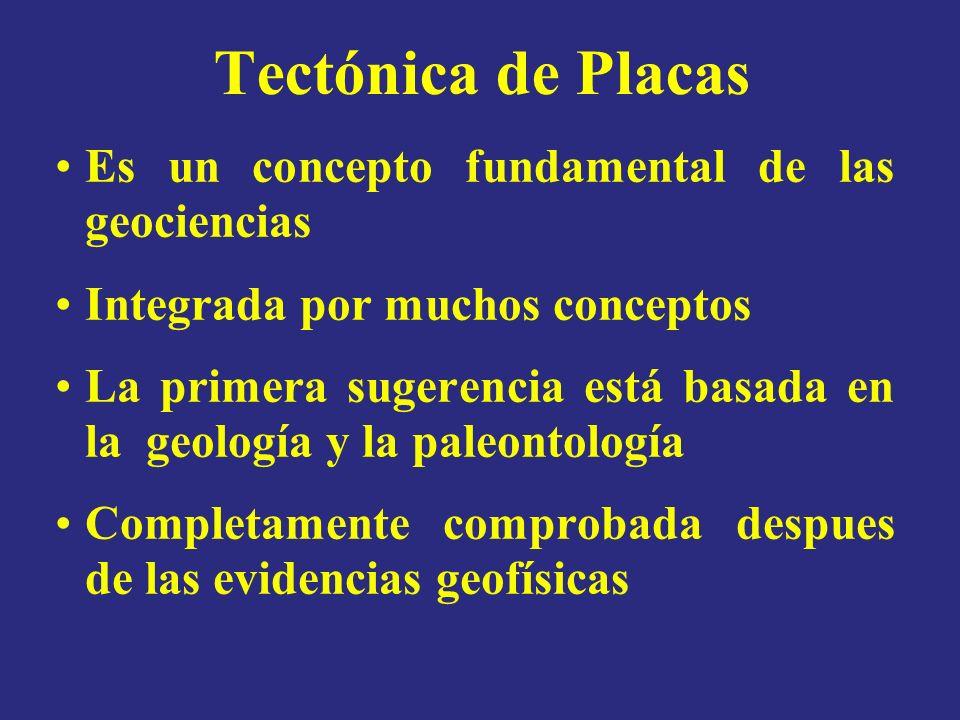 Tectónica de Placas Es un concepto fundamental de las geociencias