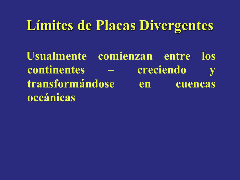Límites de Placas Divergentes