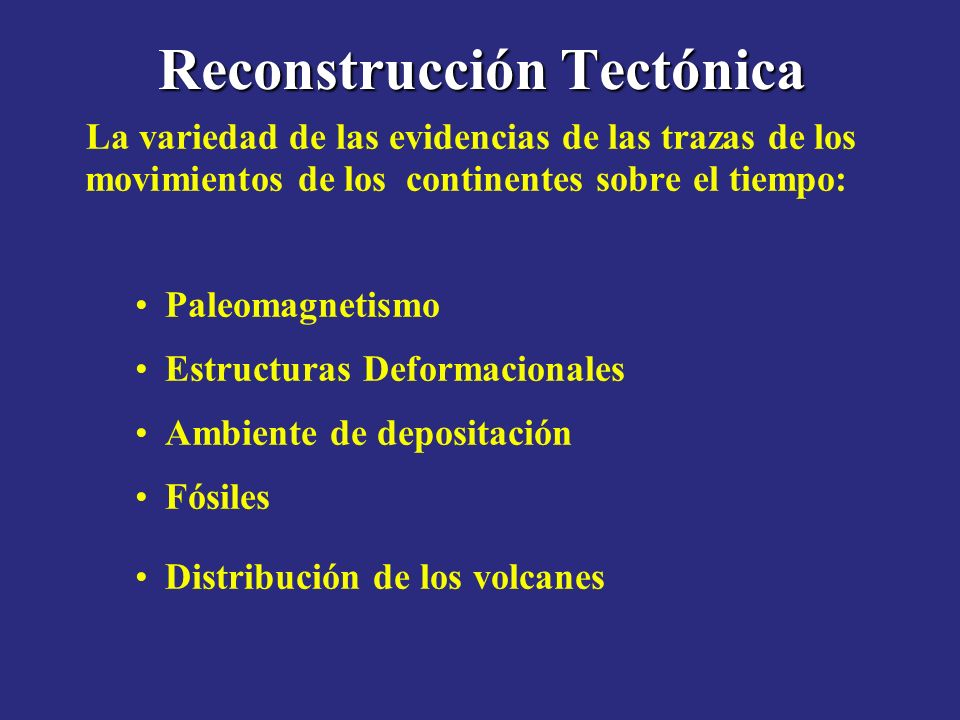 Reconstrucción Tectónica