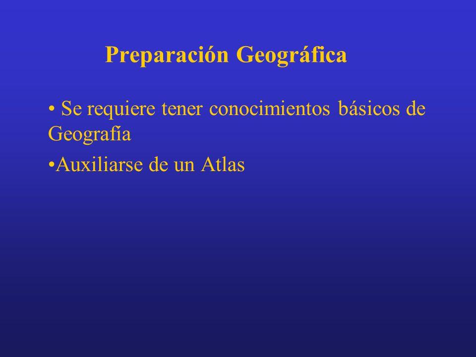 Preparación Geográfica