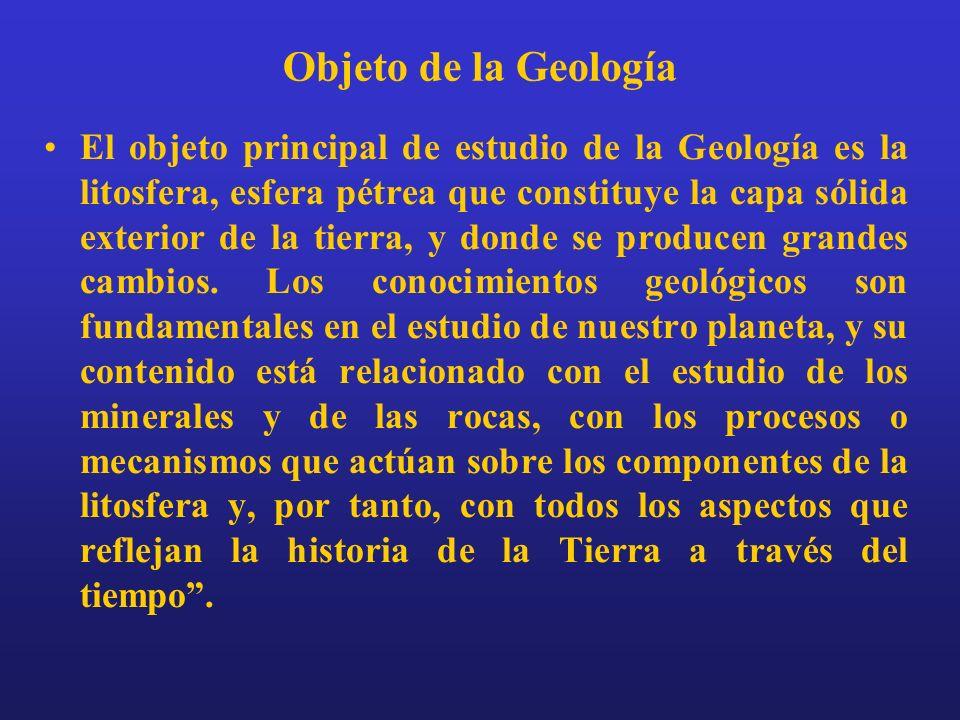 Objeto de la Geología