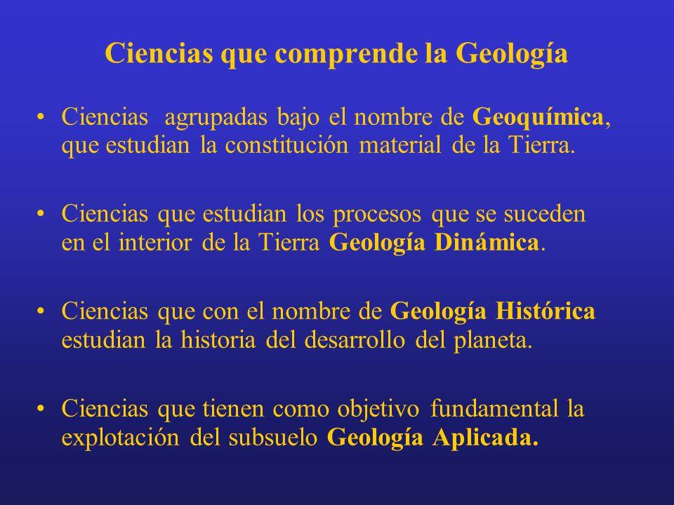 Ciencias que comprende la Geología