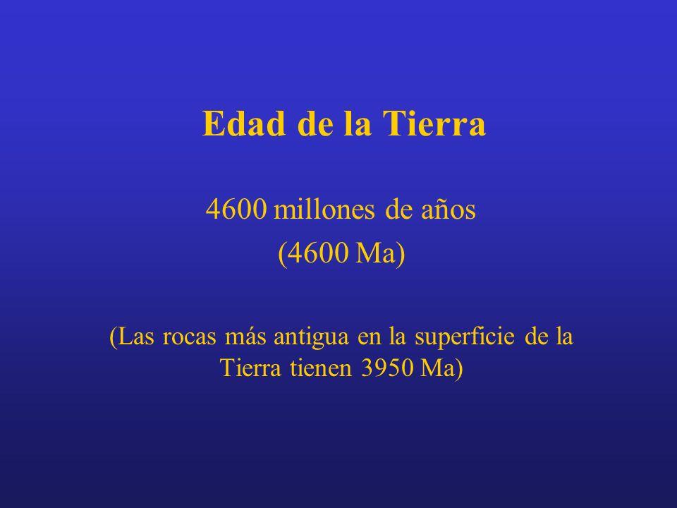 (Las rocas más antigua en la superficie de la Tierra tienen 3950 Ma)