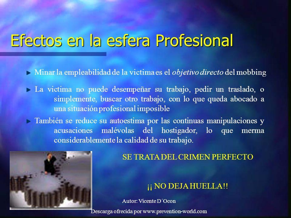 Efectos en la esfera Profesional