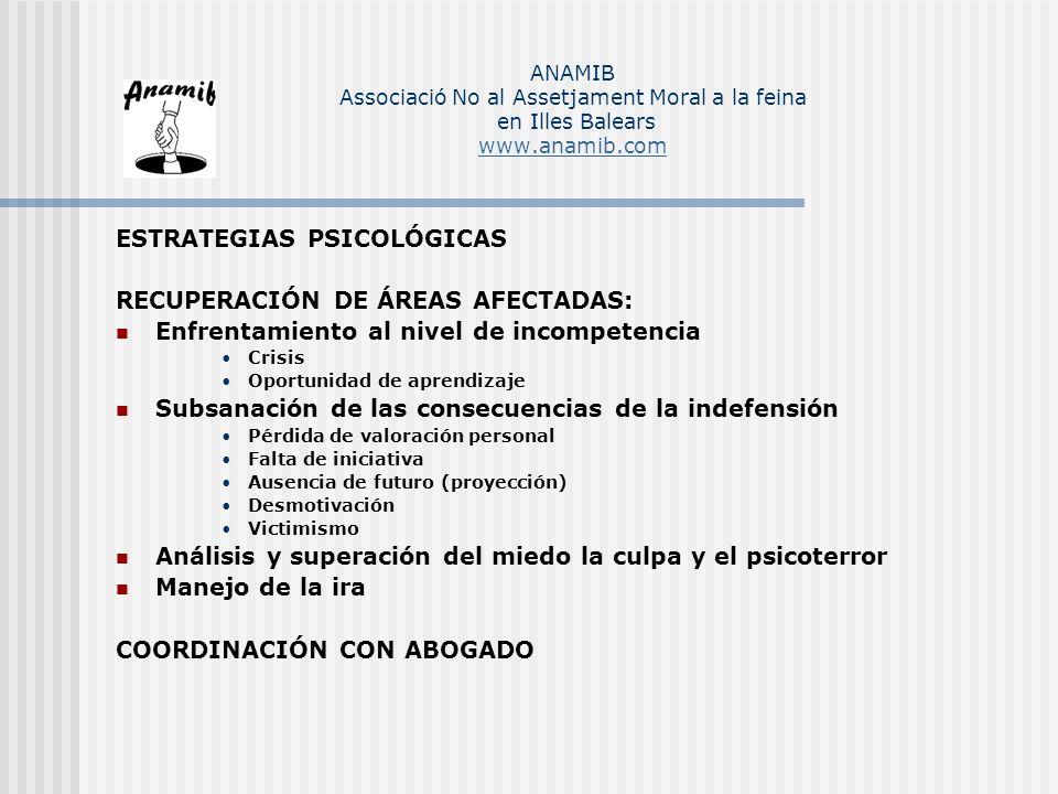 ESTRATEGIAS PSICOLÓGICAS RECUPERACIÓN DE ÁREAS AFECTADAS: