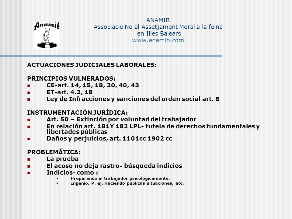 ACTUACIONES JUDICIALES LABORALES: PRINCIPIOS VULNERADOS: