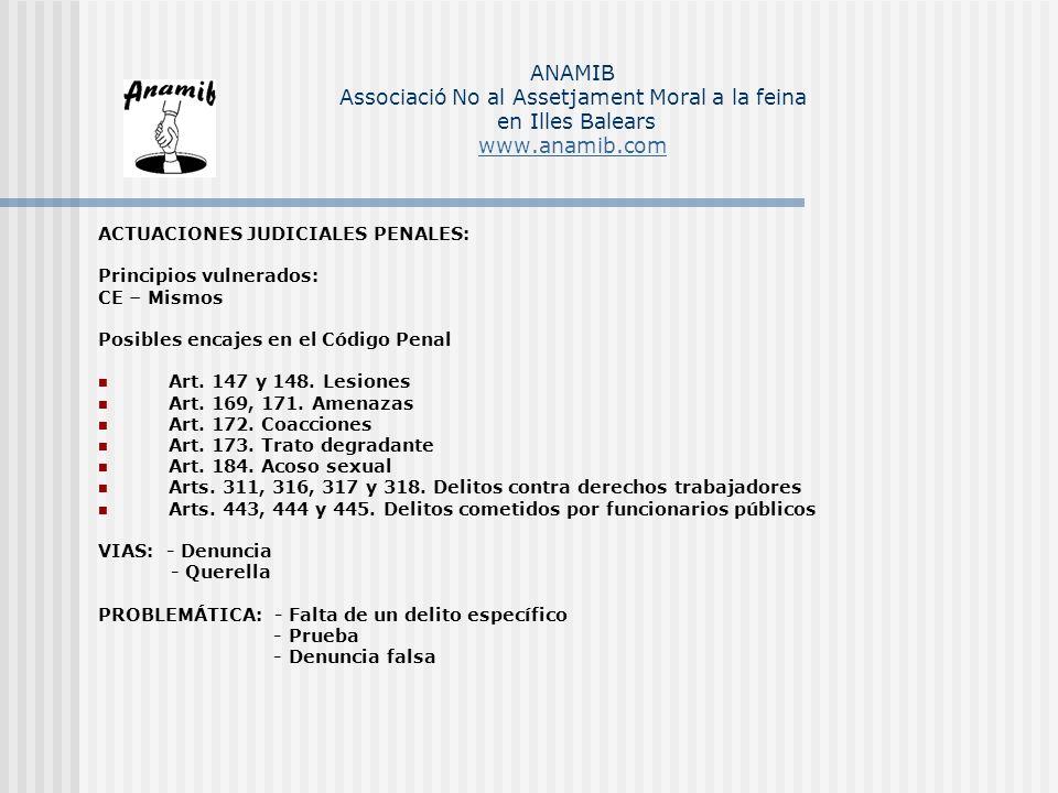ANAMIB Associació No al Assetjament Moral a la feina en Illes Balears www.anamib.com