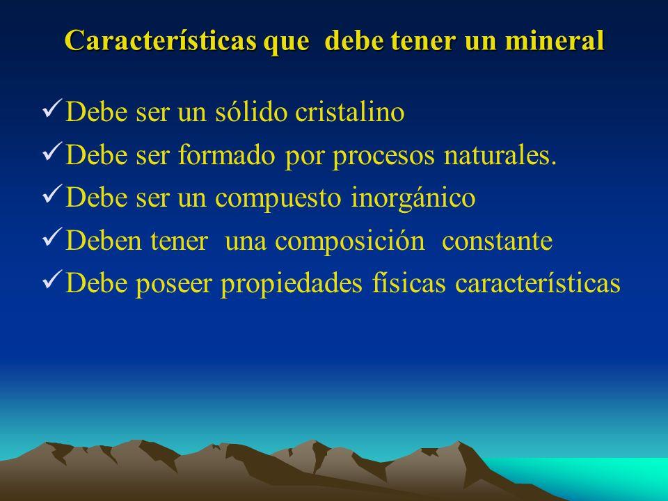 Características que debe tener un mineral